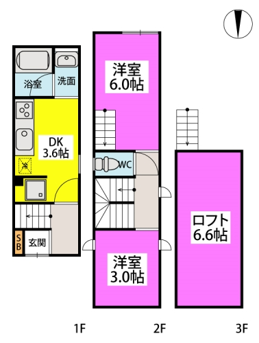 Casita / 1号室号室間取り