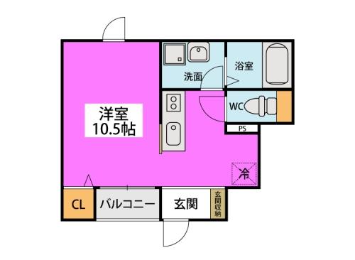 クオーレ プーロ / 103号室間取り