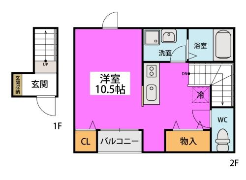 クオーレ プーロ / 201号室間取り