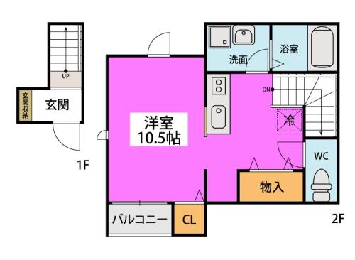クオーレ プーロ / 205号室間取り