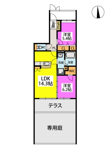 サクセス井尻 / 102号室間取り
