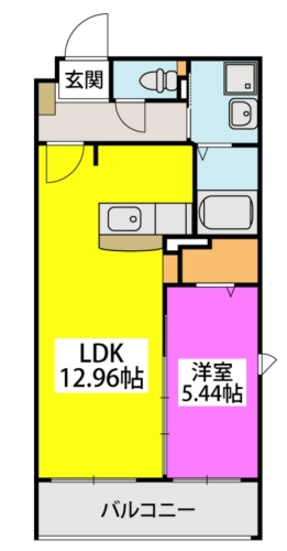 メゾン・ド・KEIWAN / 102号室間取り
