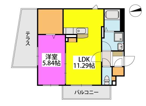 メゾン・ド・KEIWAN / 103号室間取り
