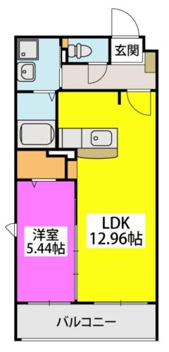 メゾン・ド・KEIWAN / 201号室間取り