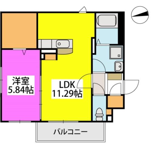 メゾン・ド・KEIWAN / 203号室間取り