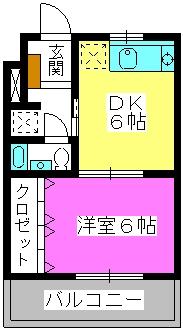 エクセレント12 / 203号室間取り