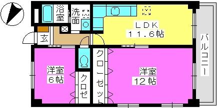 エクセレント36 / 207号室間取り