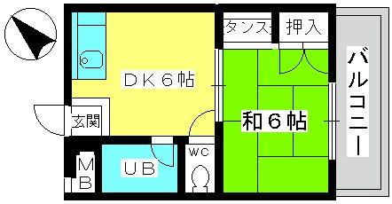 山本ビル / 102号室間取り