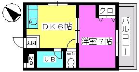山本ビル / 107号室間取り