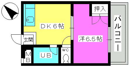 山本ビル / 202号室間取り