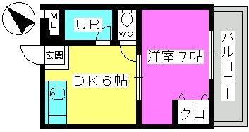 山本ビル / 301号室間取り