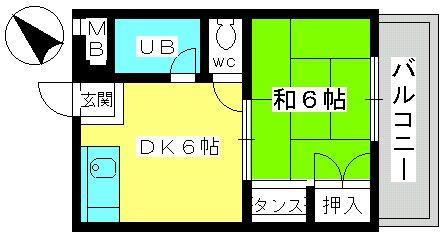 山本ビル / 303号室間取り