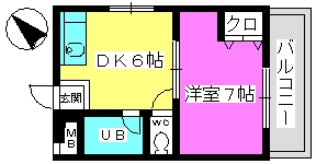山本ビル / 305号室間取り