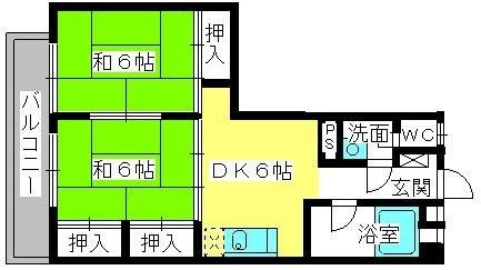 松岡コーポ / 103号室間取り