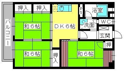 松岡コーポ / 105号室間取り