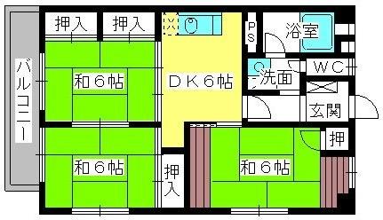 松岡コーポ / 201号室間取り