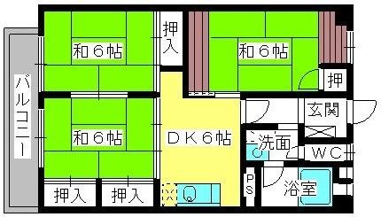松岡コーポ / 202号室間取り