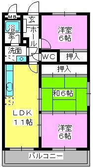 メルシーハイム'92 / 103号室間取り