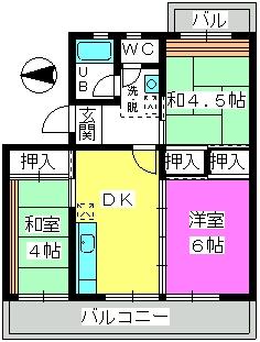西春ビル / 205号室間取り