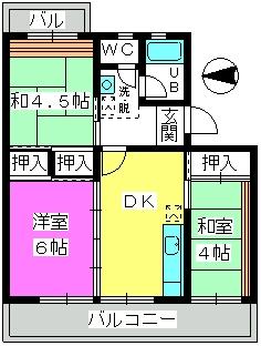 西春ビル / 406号室間取り