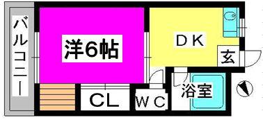 ハイツ長沢 / 301号室間取り