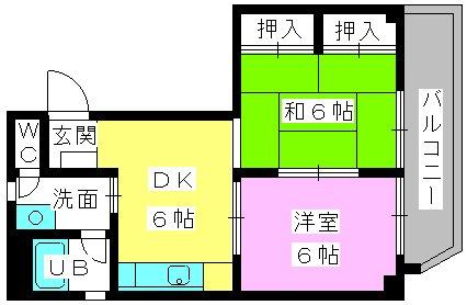 重松ビル / 401号室間取り