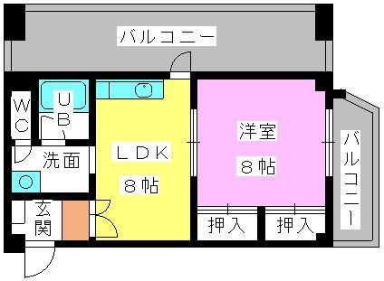 重松ビル / 402号室間取り