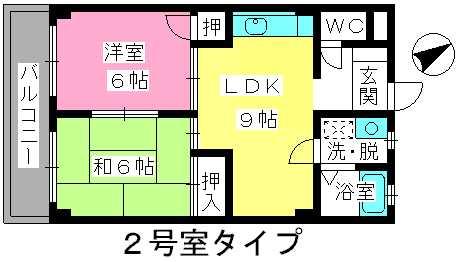 グリーンハイツ三浦 / 102号室間取り