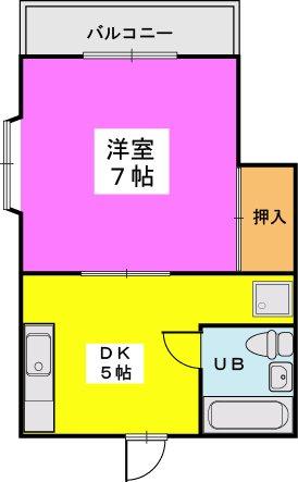 重松コーポ / 305号室間取り