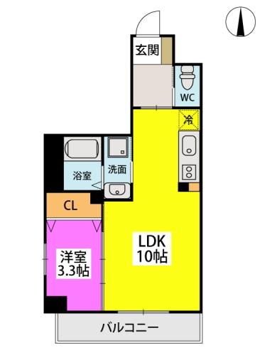 ※Grandeur Hakata / 407号室間取り