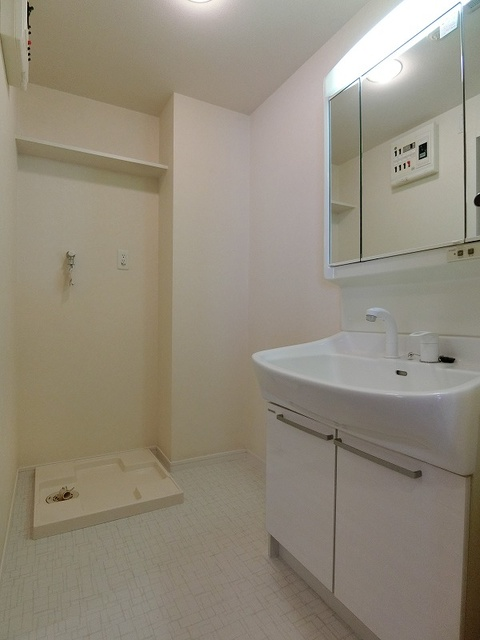 ソルモンテはかた / 801号室洗面所
