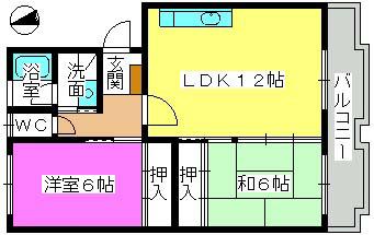 ハイム多々良川 / 302号室間取り