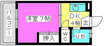 荒牧ハイツ / 102号室間取り