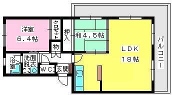 サンライズ香椎 / 301号室間取り