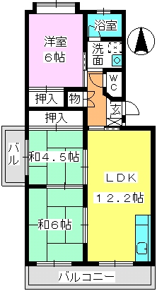 エクセレント塩浜 / 201号室間取り