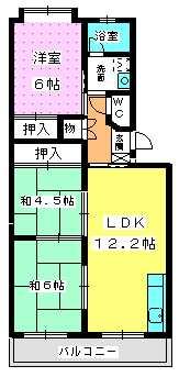 エクセレント塩浜 / 303号室間取り