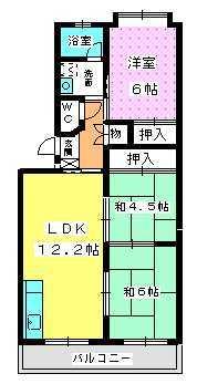 エクセレント塩浜 / 402号室間取り