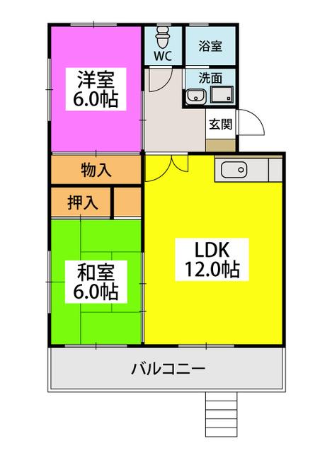 ロイヤルコーポ堺 / 101号室間取り