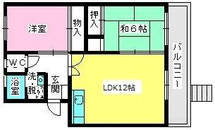 ロイヤルコーポ堺 / 102号室間取り