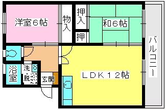 ロイヤルコーポ堺 / 105号室間取り