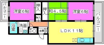 レジデンス森 / 203号室間取り