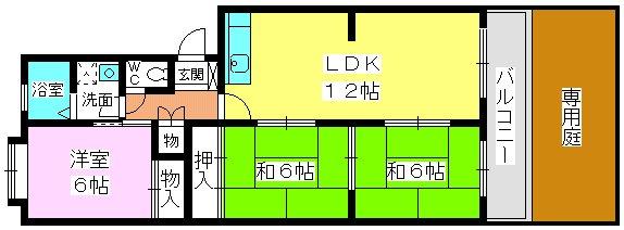 シティライフ三苫 / 106号室間取り