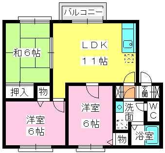 メロディハイツ堺 / 202号室間取り
