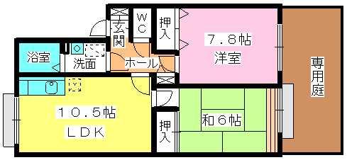 ガーデンライフ塩浜 / 102号室間取り