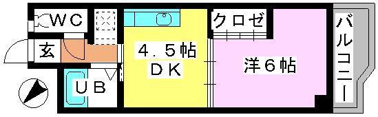 カーサ・コモーダ / 102号室間取り