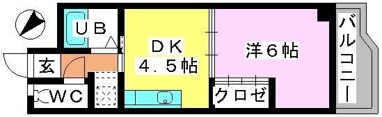 カーサ・コモーダ / 206号室間取り