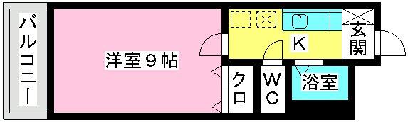 サンライズ香椎Ⅱ / 102号室間取り