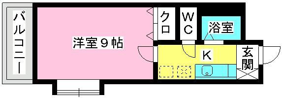 サンライズ香椎Ⅱ / 401号室間取り