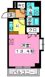 宗像北田マンション / 203号室間取り