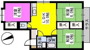 ハイツ平成 / 101号室間取り